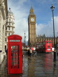 London, Big Ben, phone box