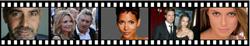 Actors, actresses and celebrities